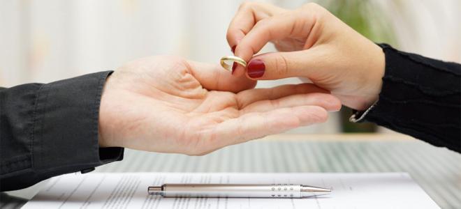 Prekrashchenie otnoshenii` pri rastorzhenii braka